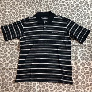 *24 HOUR SALE $13* Columbia Striped Golf Shirt, M